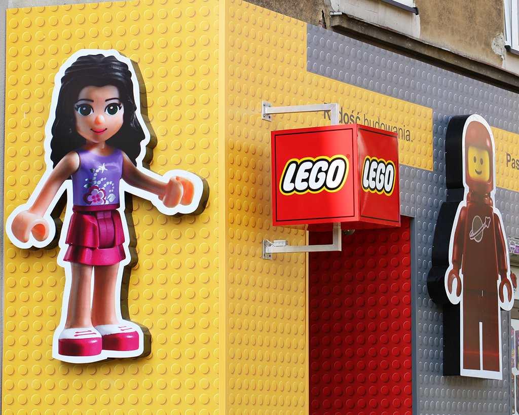 Kasetony zabawek Lego
