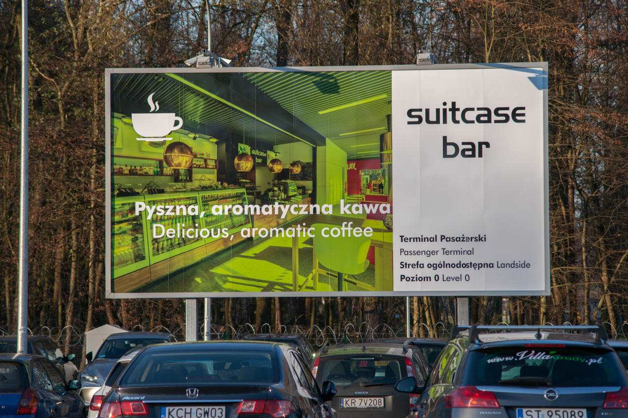 Bilbord Reklamowy AIRPORT Kraków